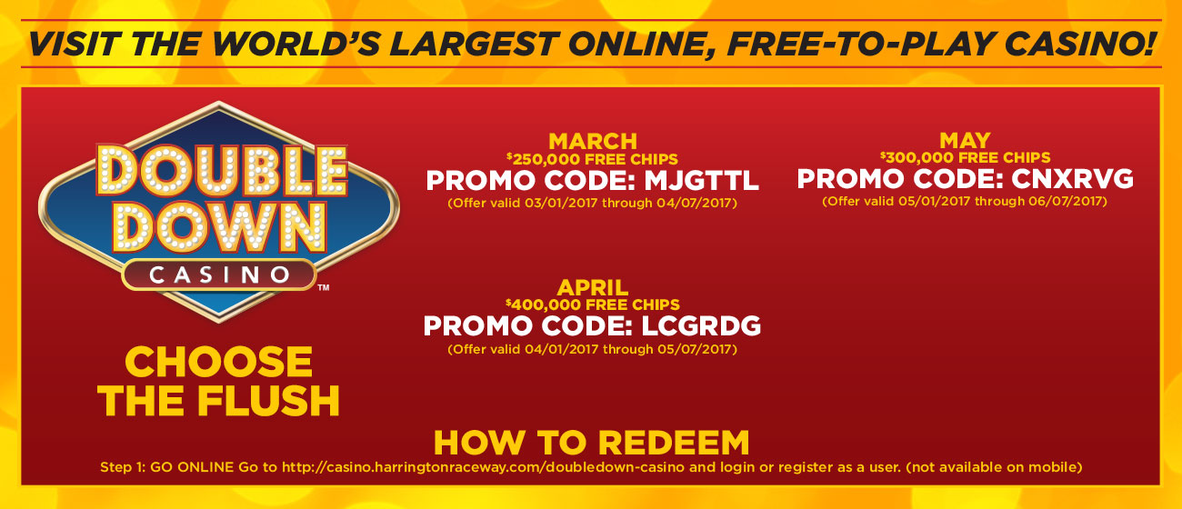 Current double down casino promotion codes mspt poker updates
